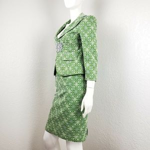 Nanette Lepore Suit Floral Jacket  Skirt Sz 4